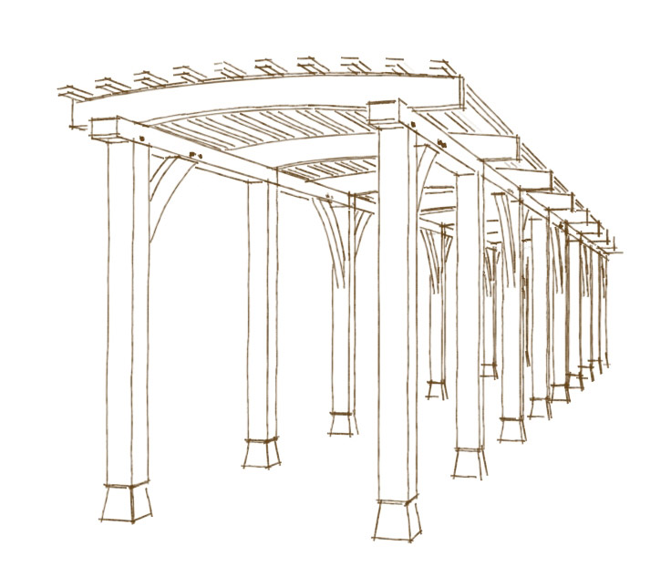 The pergola project for Gazebo construction details